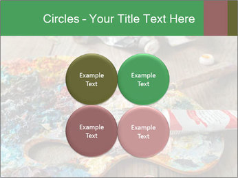 Palette with oil paint PowerPoint Template - Slide 38