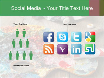 Palette with oil paint PowerPoint Templates - Slide 5