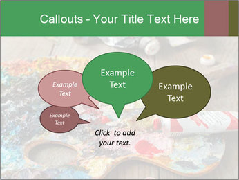 Palette with oil paint PowerPoint Template - Slide 73