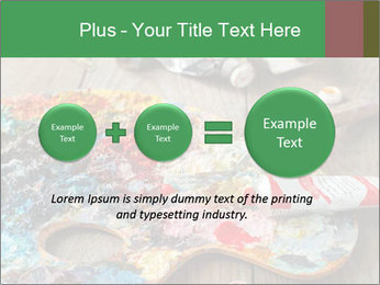 Palette with oil paint PowerPoint Template - Slide 75
