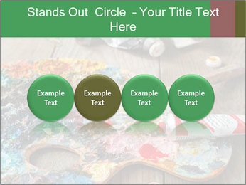 Palette with oil paint PowerPoint Template - Slide 76