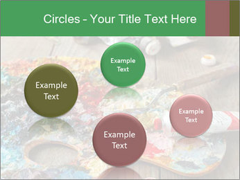 Palette with oil paint PowerPoint Template - Slide 77
