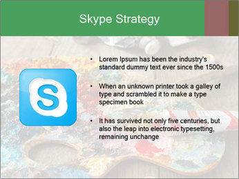 Palette with oil paint PowerPoint Template - Slide 8