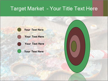 Palette with oil paint PowerPoint Template - Slide 84