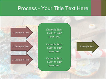 Palette with oil paint PowerPoint Templates - Slide 85