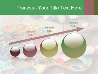 Palette with oil paint PowerPoint Template - Slide 87