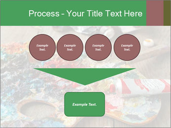 Palette with oil paint PowerPoint Template - Slide 93