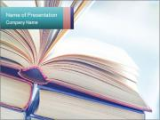 Open books PowerPoint Templates