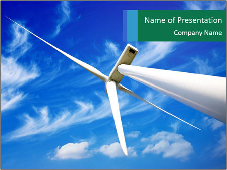 Wind energy turbine PowerPoint Template