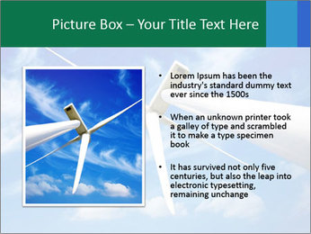 Wind energy turbine PowerPoint Template - Slide 13