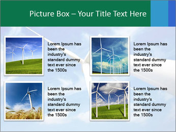 Wind energy turbine PowerPoint Template - Slide 14