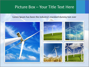 Wind energy turbine PowerPoint Template - Slide 19