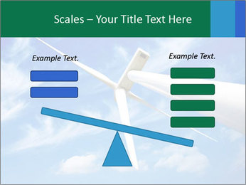 Wind energy turbine PowerPoint Template - Slide 89