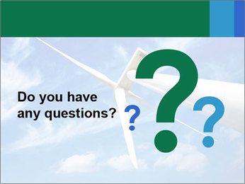 Wind energy turbine PowerPoint Template - Slide 96
