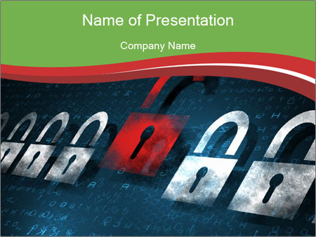 Security concept PowerPoint Template