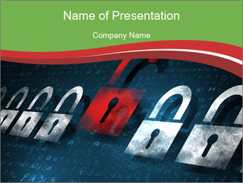 Security concept PowerPoint Template - Slide 1