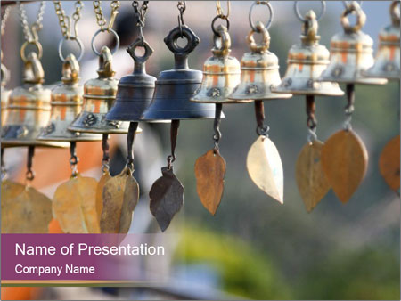 WInd bells PowerPoint Templates