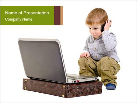 Cute little boy PowerPoint Template