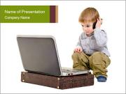 Cute little boy PowerPoint Templates