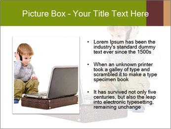 Cute little boy PowerPoint Template - Slide 13