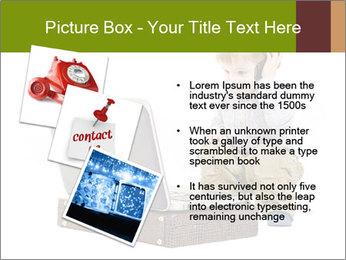 Cute little boy PowerPoint Template - Slide 17