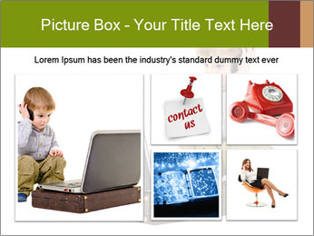 Cute little boy PowerPoint Template - Slide 19