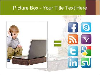Cute little boy PowerPoint Template - Slide 21