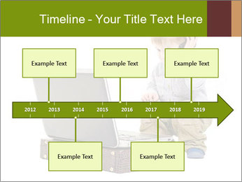 Cute little boy PowerPoint Template - Slide 28