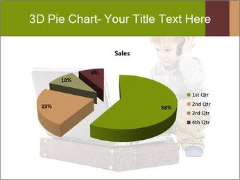 Cute little boy PowerPoint Template - Slide 35