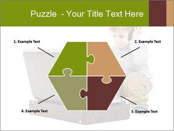 Cute little boy PowerPoint Template - Slide 40