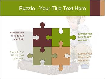 Cute little boy PowerPoint Template - Slide 43
