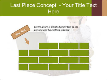 Cute little boy PowerPoint Template - Slide 46