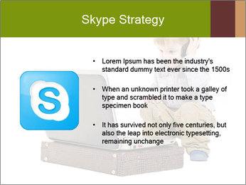 Cute little boy PowerPoint Template - Slide 8