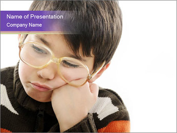 Angry little boy PowerPoint Template - Slide 1