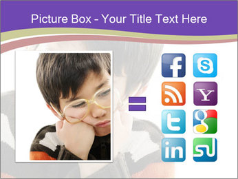 Angry little boy PowerPoint Template - Slide 21