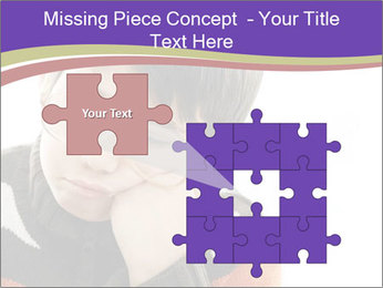 Angry little boy PowerPoint Template - Slide 45