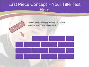 Angry little boy PowerPoint Template - Slide 46