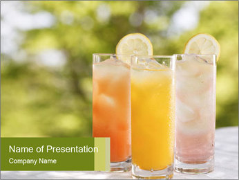 Delicious drink PowerPoint Templates - Slide 1