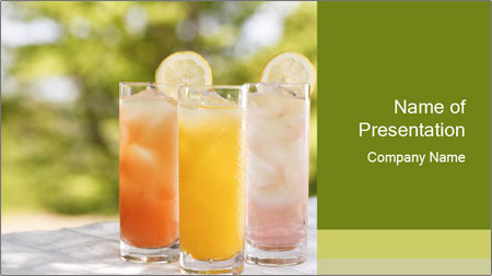 Delicious drink PowerPoint Template