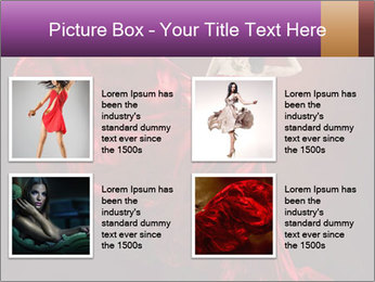 Woman in red waving dress PowerPoint Template - Slide 14