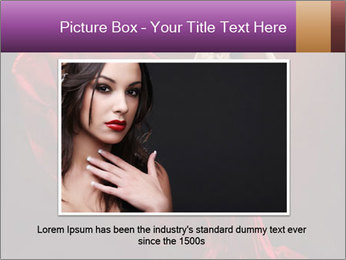 Woman in red waving dress PowerPoint Template - Slide 15