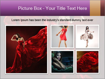 Woman in red waving dress PowerPoint Template - Slide 19