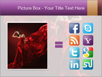 Woman in red waving dress PowerPoint Template - Slide 21