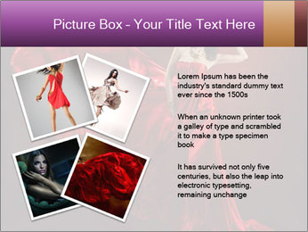 Woman in red waving dress PowerPoint Template - Slide 23