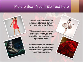 Woman in red waving dress PowerPoint Template - Slide 24