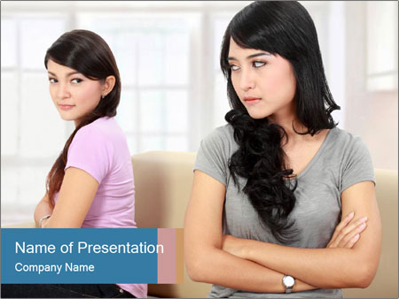 Portrait of girls PowerPoint Template