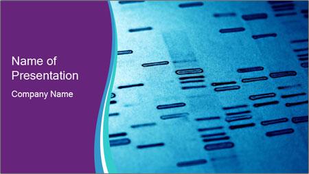 DNA fingerprints PowerPoint Template