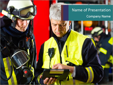 Fire brigade PowerPoint Template