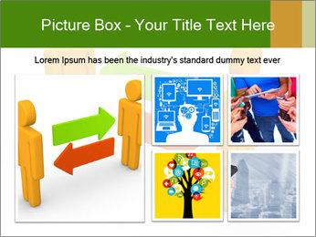 Exchange between two 3d men PowerPoint Templates - Slide 19