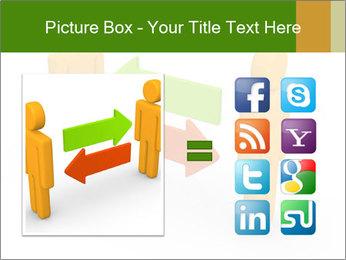 Exchange between two 3d men PowerPoint Templates - Slide 21